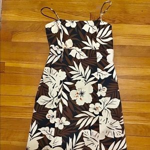Evan Picone floral sundress with tie back size 4